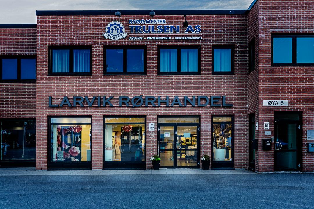 larvik rorhandel butikk utvendig